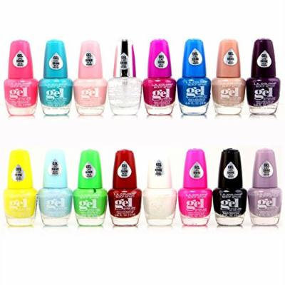 16pc L.A. Colors Extreme Shine Gel Nail Polish No UV Needed, Intense color, Fuss free Set 2nd Edition / all New 16 Colors