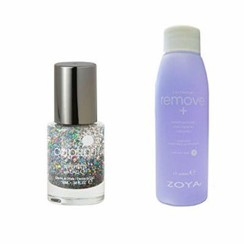 Bundle of Two Items: Caption Nail Polish Top Effect in My Oh My .34 oz with Nail Polish Remover 2 oz