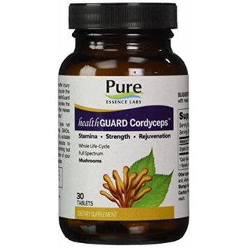 Pure Essence Labs HealthGuard Cordyceps - Stamina - Strength - Rejuvenation - 30 Tablets