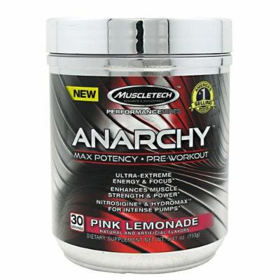 Anarchy Pre-Workout By MuscleTech, Pink Lemonade 30 Servings