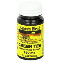 Nature's Blend Green Tea Extract 250 mg 60 Caps Pack of 4