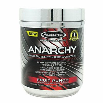 Anarchy Pre-Workout By MuscleTech, Fruit Punch 30 Servings