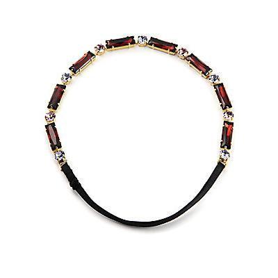 L. Erickson St. Tropez Swarovski Crystal Headwrap - Gold-