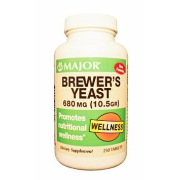 [3 PACK] BREWER'S YEAST 680 MG (10.5 Gr) 250 TABLETS X 3 BOTTLES *NEW FORMULA*