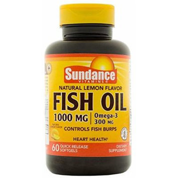 Sundance 1000 Mg Fish Oil Supplement, Lemon, 60 Count