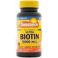 Sundance Biotin 5000 mcg Softgels, 150 Count