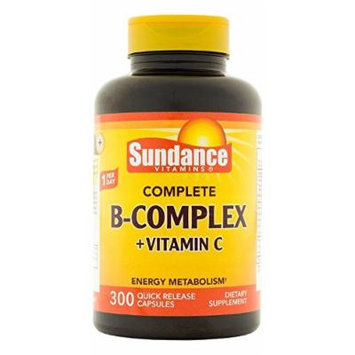 Sundance Complete B Complex Plus Vitamin C 500mg Tablets, 300 Count