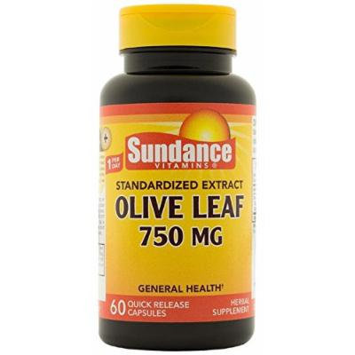 Sundance Olive Leaf Extracts 750 mg Tablets, 60 Count
