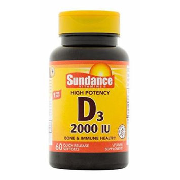 Sundance 2000 LU Vitamin-D3 Supplement, 60 Count
