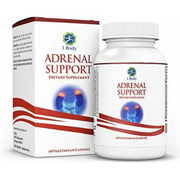 Adrenal Support - (Vegetarian) - A complex formula containing Vitamin B12, B5, B6, Magnesium, Ginger Root Extract, Ashwagandha, Schizandra Berry, Licorice & more - 30 Day Supply