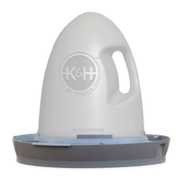 K & H Pet Products K & H Thermo Poultry Waterer 2.5 Gallon Gray