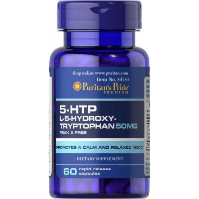 Puritan's Pride 5-HTP 50 mg (Griffonia Simplicifolia )-60 Capsules