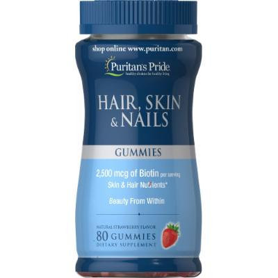 Puritan's Pride Hair, Skin & Nails Gummies-80 Gummies