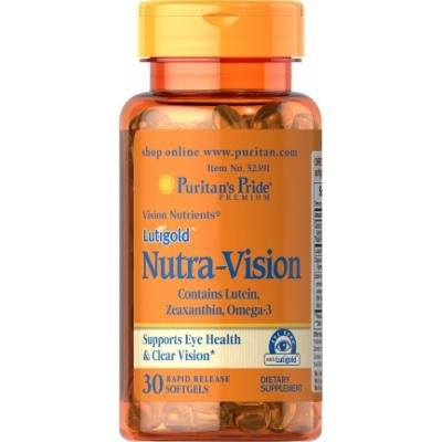 Puritan's Pride Lutigold Nutra-Vision with Lutein, Zeaxanthin & Omega-3-30 Softgels