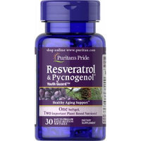 Puritan's Pride Resveratrol 100 mg & Pycnogenol 30 mg-30 Softgels