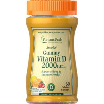 Puritan's Pride Vitamin D3 2000 IU (per serving) Gummies-60 Gummies