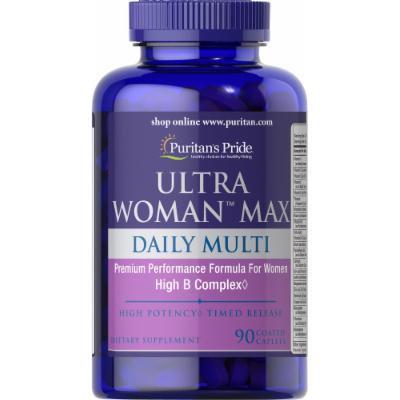 Puritan's Pride Ultra Woman Max Daily Multivitamin-90 Caplets