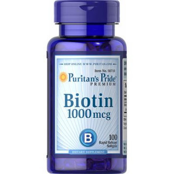 Puritan's Pride Biotin 1000 mcg-100 Softgels