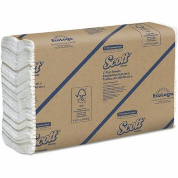 Kimberly-Clark Professional Scott C-Fold White Paper Towels, 12 Packs of 200 sheets, 2400 Total
