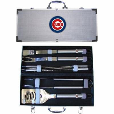 MLB 8-Piece BBQ Set with Hard Case, Chicago Cubs
