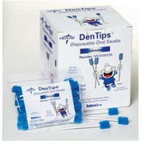 DenTips Oral Swabsticks,Blue - 500 Each / Case (1 Case)