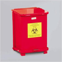Rubbermaid Commercial Products 7-Gal The Silent Defenders Small Square Step Can