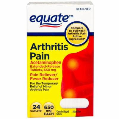 Equate Acetaminophen Pain Reliever/Fever Reducer 650mg, 24ct