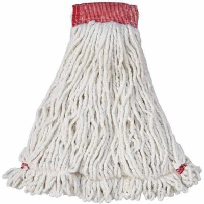 Rubbermaid Commercial Web Foot Shrinkless Cotton/Synthetic Mop Head, White