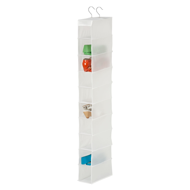 Honey Can Do 10 Shelf Shoe Organizer in White
