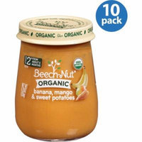 Beech-Nut Organic Naturals Stage 2 Banana, Mango & Sweet Potatoes Baby Food, 4.25 oz, (Pack of 10)