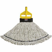 Rubbermaid Commercial Maximizer Blended Medium White Mop Heads, 6 count