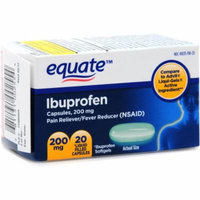 Equate Ibuprofen Softgels, 20ct