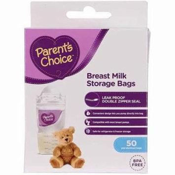 Parent's Choice Breast Milk Storage Bags, BPA-Free - 50 ct