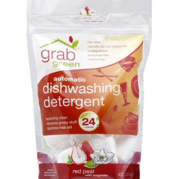 GrabGreen Red Pear with Magnolia Automatic Dishwashing Detergent, 15.2 oz, (Pack of 6)