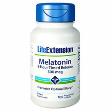 Melatonin 6 Hour Timed Release 300 mcg Life Extension 100 VCaps