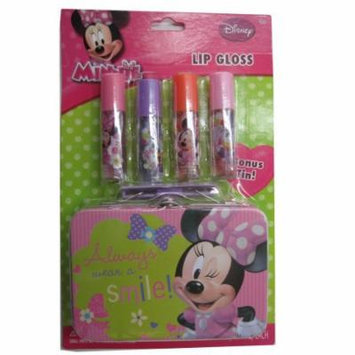 Disney Girls Minnie Lip Gloss Tin Cosmetic Accessory