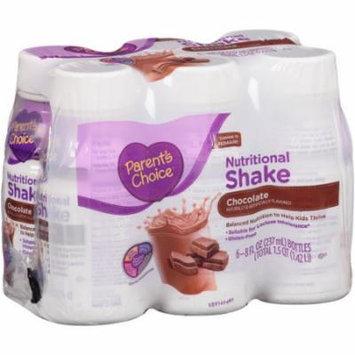 Parent's Choice Chocolate Nutritional Shake, 8 fl oz, 6 count