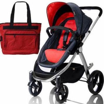 Mountain Buggy Cosmopolitan Stroller - Chili with a Diaper Bag