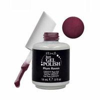 IBD Just Gel 0.5oz Soak Off Nail Polish Red, PLUM RAVEN, 56506