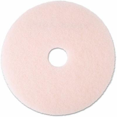 3M 3600 Pink Ultra High-Speed Eraser Floor Burnishing Pads, 5 count