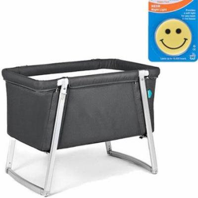 Babyhome Dream Bassinet - Graphite with Night Light