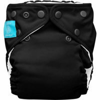 Charlie Banana 2-in-1 Reusable Diapering System, 1 Diaper and 2 Inserts, (One Size), Black
