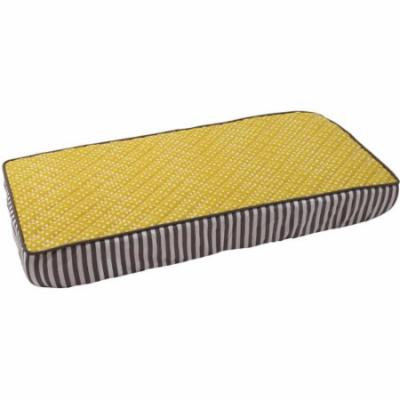 Bacati Dots/Pin Stripes Pin Bacati Dots Changing Pad Cover, Yellow