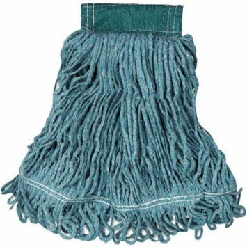 Rubbermaid Commercial Cotton/Synthetic Super Stitch Blend Mop Head, Green, Medium