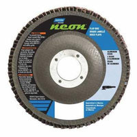 NORTON 66623399218 Flap Disc, 6 In x 80 Grit, 7/8
