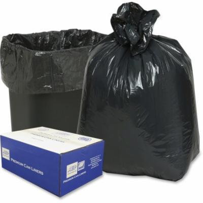 Webster Opaque Linear Low-density Can Liners - 16 Gal - Low Density - 500/carton - Black (243115b)