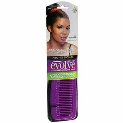 Evolve Essentials Detangling and Dresser Comb, 2 pc