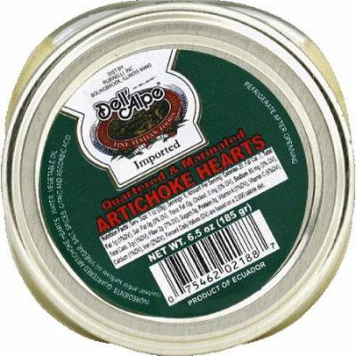 Dell' Alpe Quartered & Marinated Artichoke Hearts, 6.5 oz, (Pack of 12)