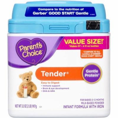 Parent's Choice Tender Powder Infant Formula with Iron, 32oz