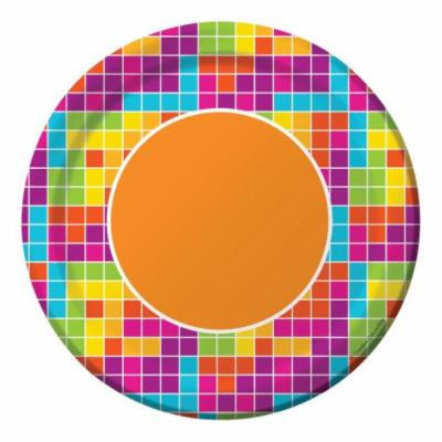 Club Pack of 96 Multi-Colored Get Nerdy Disposable Paper Lunch Plates 7